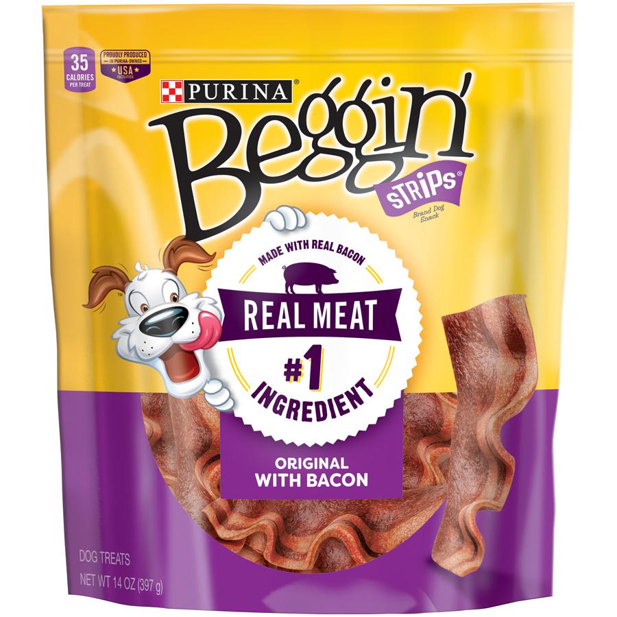Purina Beggin' Strips Bacon Flavor Dog Treats, 14 Oz. by Nestle Purina Petcare Company