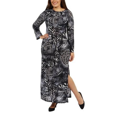 24/7 Comfort Apparel - Maximum Effect Plus Size Maxi Dress ...