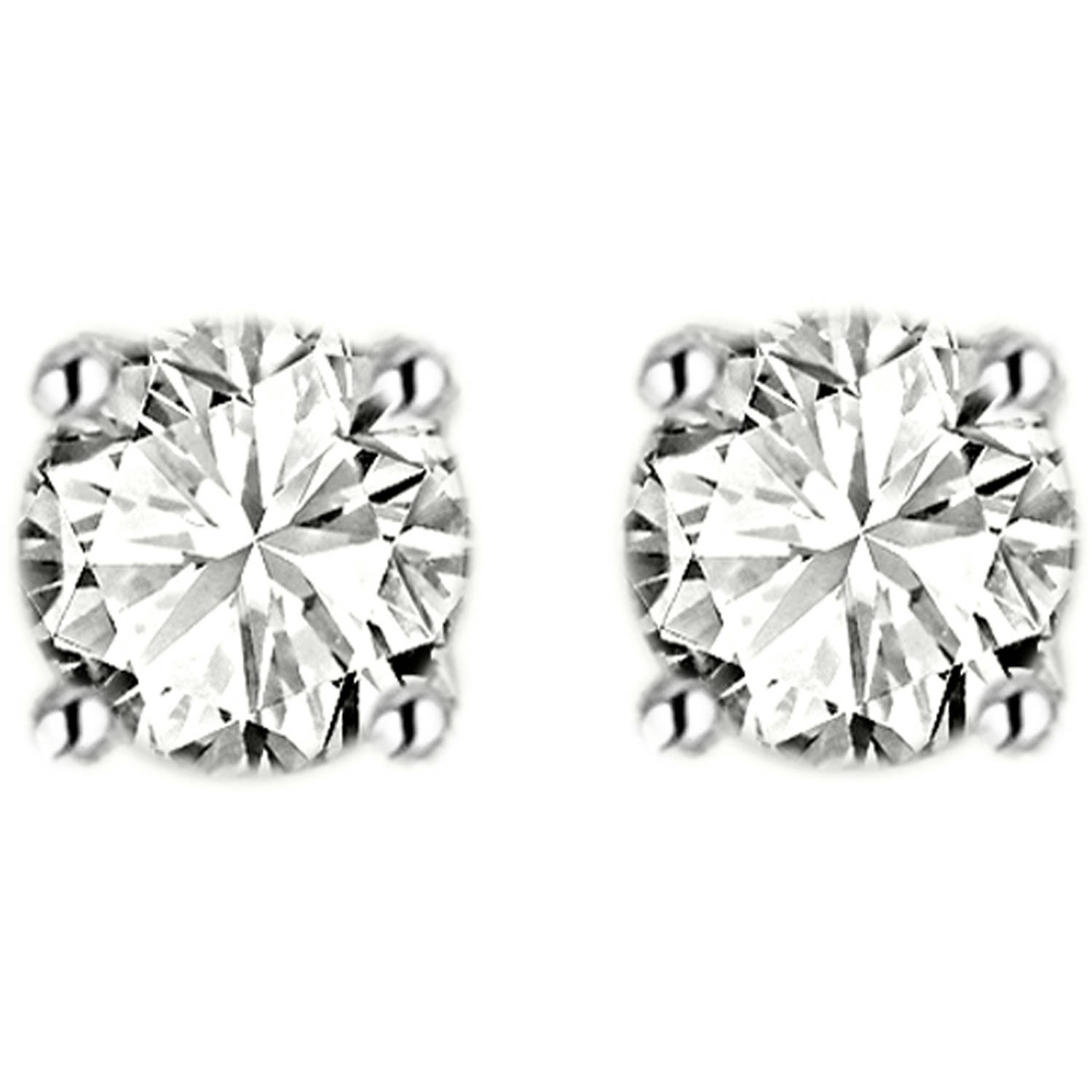 1/3 Carat T.W. Diamond 14kt White Gold Stud Earrings