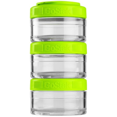 Greek Jar - Blender Bottle GoStak 60cc 3Pak Twist n' Lock Storage Jars