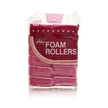 D*Best Foam Rollers Model No. 504 (12 Rollers) (Best Hair Rollers For Fine Hair)