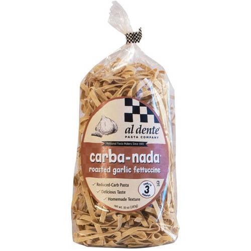 Al Dente Roasted Garlic Fettuccine Noodles, 10 oz (Pack of 6)