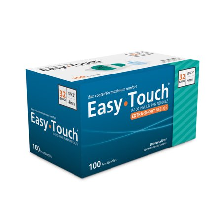 Easy Touch Pen Needles 32 Gauge 5/32 in - 100 ea
