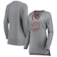 c6d653bb8 Product Image Washington Redskins Majestic Women s Historic Hyper Lace-Up  Tunic Sweatshirt - Heathered Gray