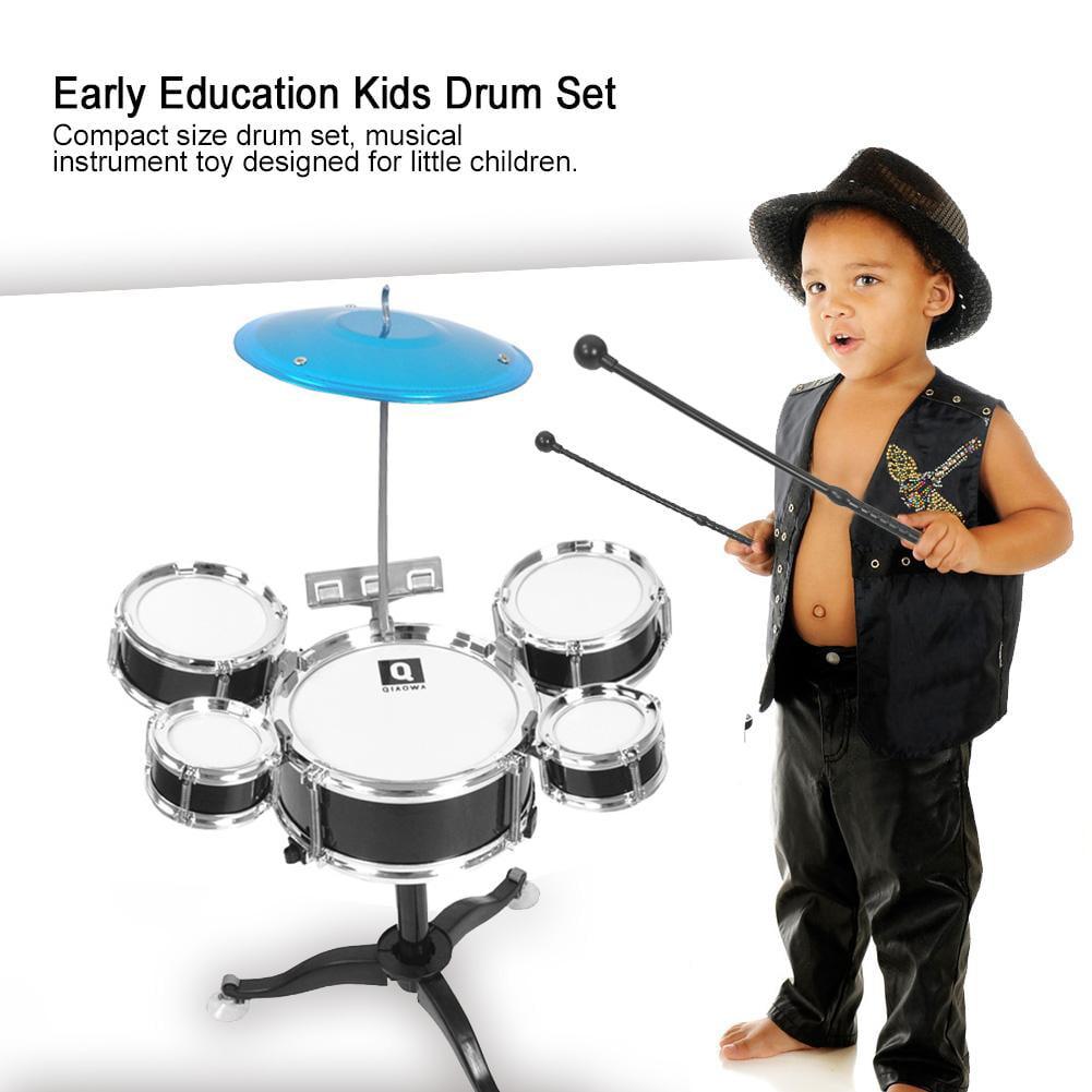 Vbestlife Early Education Kids Drum Set Beginners Musical Instrument