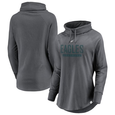 the latest ce854 10bbc Philadelphia Eagles NFL Pro Line by Fanatics Branded Women's Be a Pro Cowl  Neck Raglan Pullover Sweatshirt - Gray