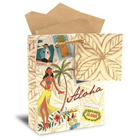 Hawaiian Mini Gift Bag 6 Pack Stamped With Aloha