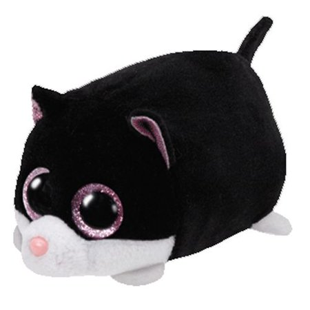 Cara Black & White Cat- Teeny Tys - Stuffed Animal by Ty (42219) - Halloween Black Cat Stuffed Animal