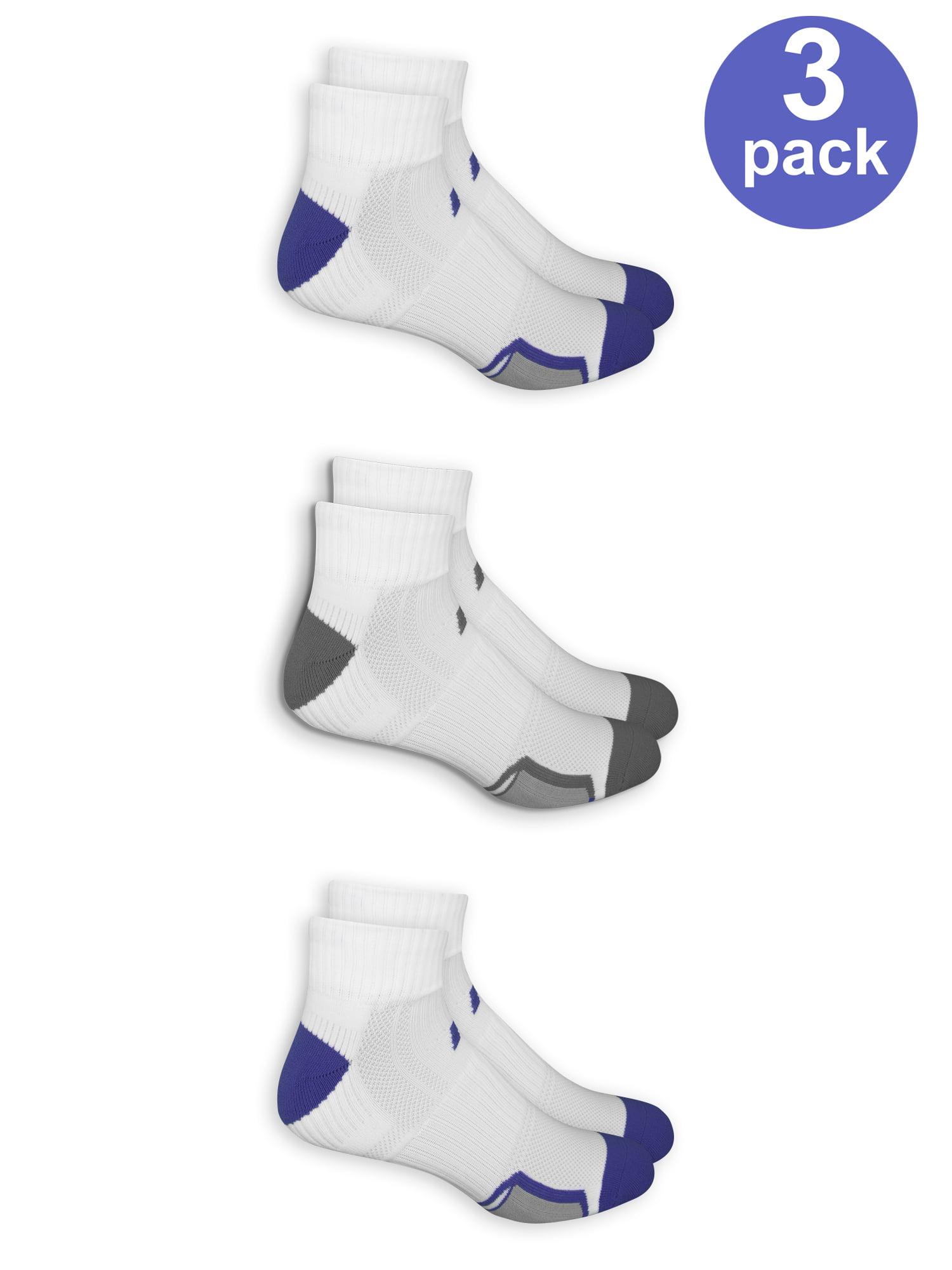 2 Pair Russell All Sports Sock Light Blue, Medium