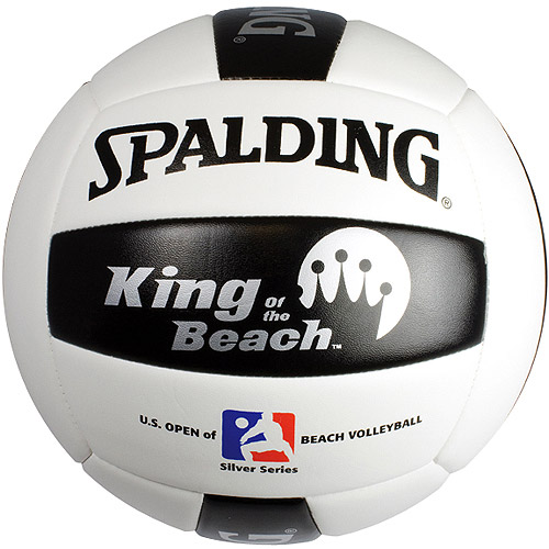Spalding King of the Beach US Open Replica Volleyball,Black/White/Silver. 720849