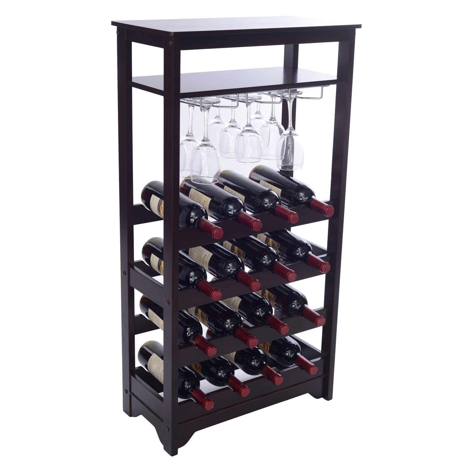 Northbeam Wine Rack with Stem Glassware Holder by Merry Products