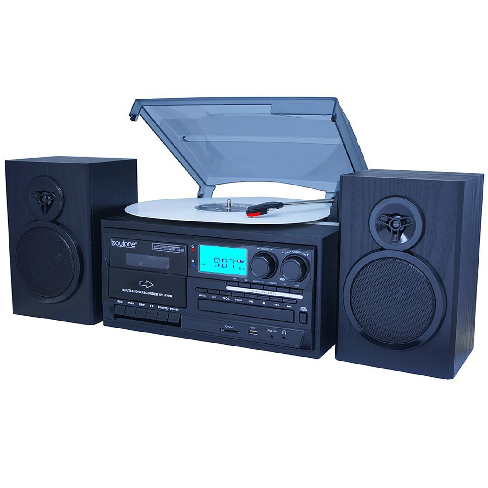 28-Series Black Classic BT Turntable System BT-28SPB