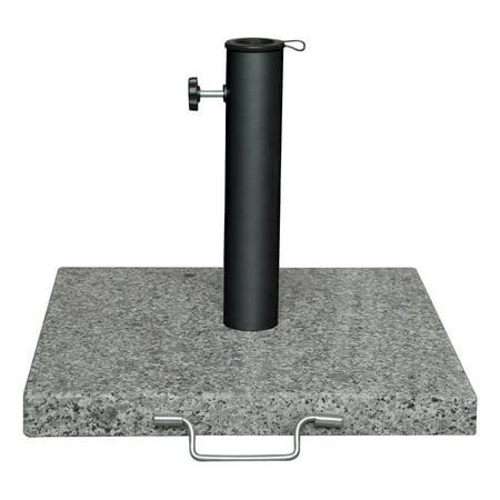 Bond Gray Granite Umbrella Base 17 in. L x 17 in. W x 12.6 in. H - Granite Umbrella Base