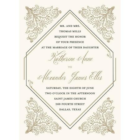Deco Standard Wedding - Gold Wedding Invitations