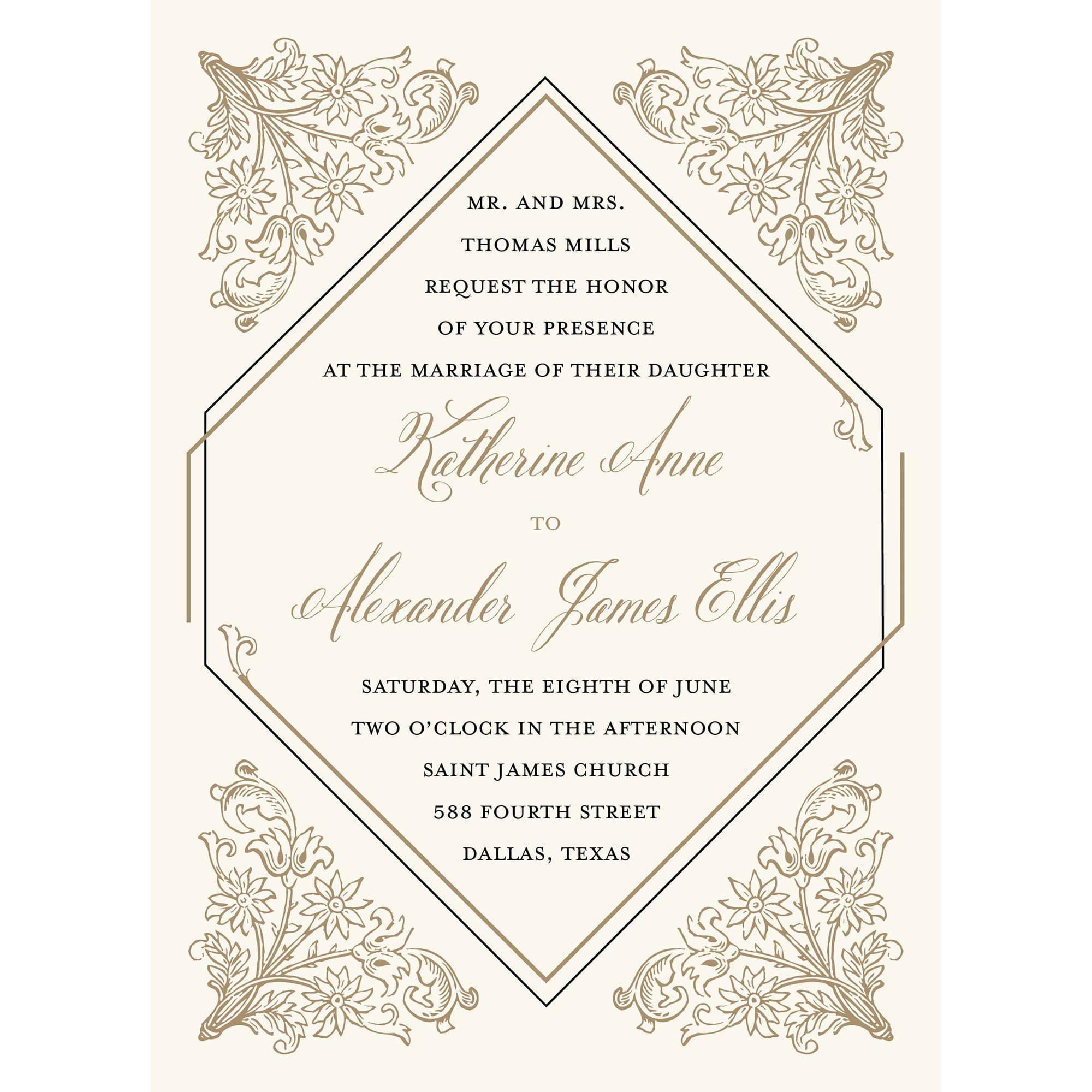 Deco Standard Wedding Invitation