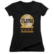 The Amazing Race Waiting World Juniors V-Neck Shirt