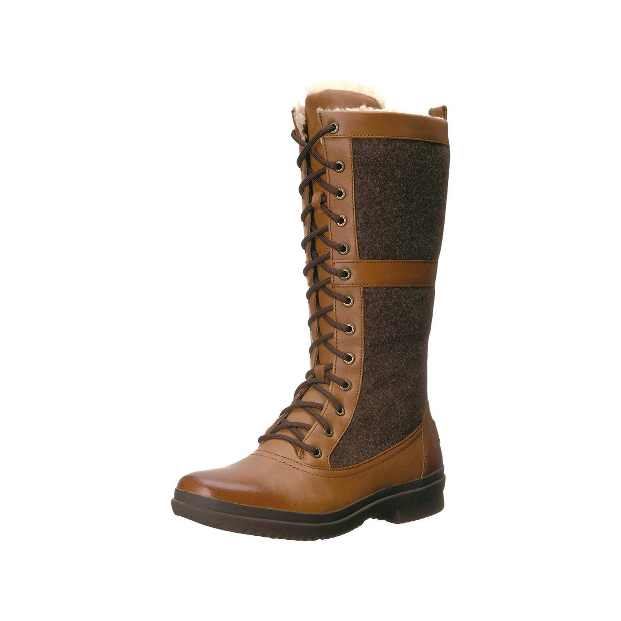 adcc4045e14 Ugg Australia Womens Elvia Leather Round Toe Mid-Calf Cold | Walmart ...