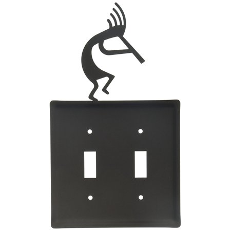 8 Inch Kokopelli Double Switch Cover, Perfect gift for those that love light cover By Village Wrought Iron