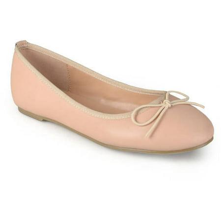 Brinley Co. Women's Classic Bow Round Toe Casual Ballet Flats (Finn Blue Shoes)