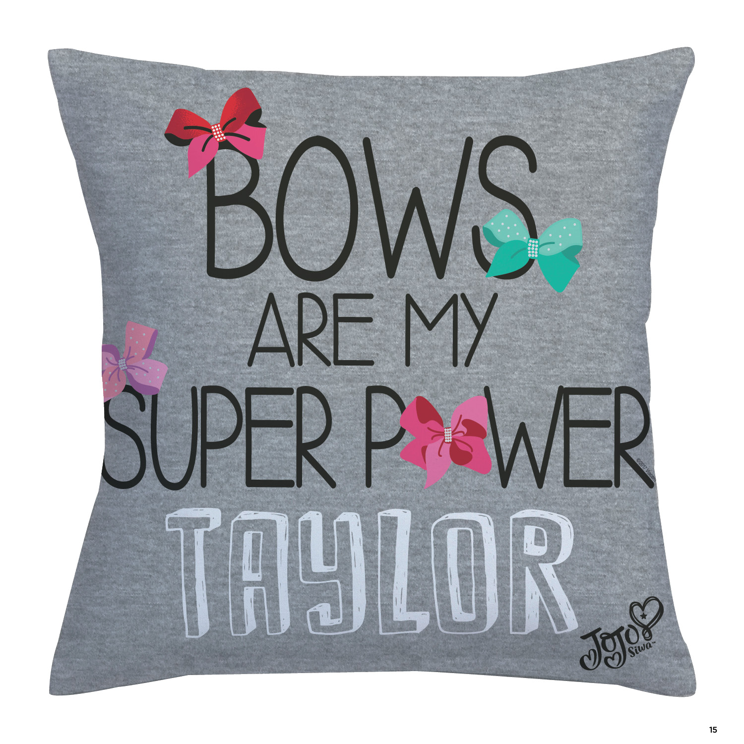 Personalized Throw Pillow - JoJo Siwa Bows are My Super Power
