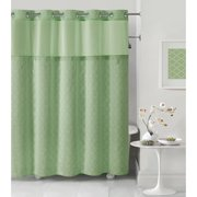 Hookless Sage Mosaic Polyester Shower Curtain