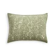 Martha Stewart Collection Botanical Standard Sham. 20 Inches x 26 Inches, Light Green
