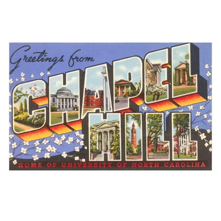 Greetings from Chapel Hill, North Carolina Print Wall Art](Party City Chapel Hill)