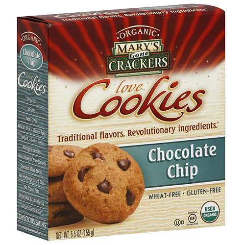 Mary's Gone Crackers Chocolate Chip Cookies, 5.5 oz (Pack of 6)