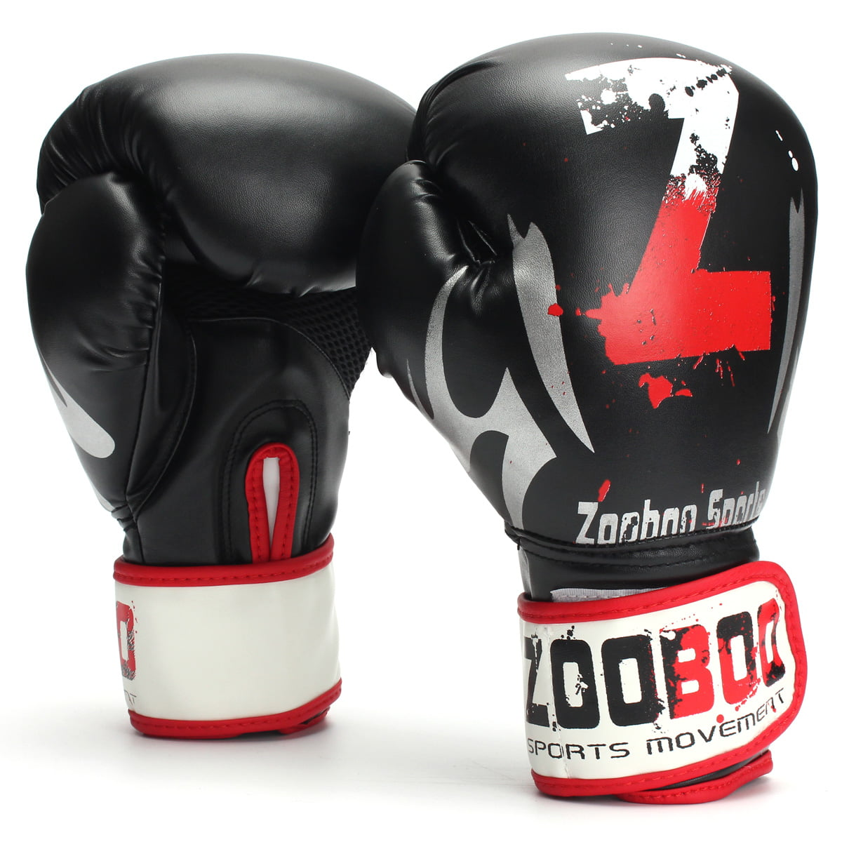 ZOOBOO Boxing Gloves Leather Training Punching Mitts MMA ...