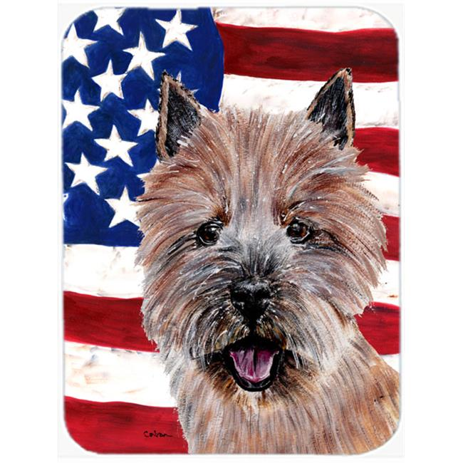 Norwich Terrier With American Flag Usa Mouse Pad, Hot Pad Or Trivet, 7.75 x 9.25 In. - image 1 de 1