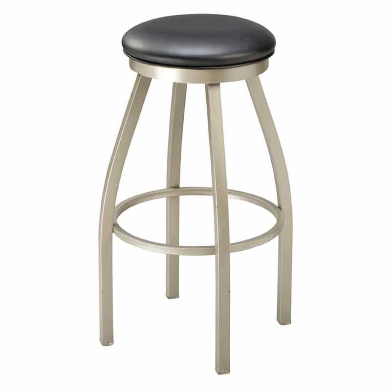 Regal Redlund 30 in. Backless Metal Bar Stool with Upholstered Seat