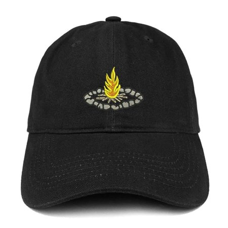Trendy Apparel Shop Campfire Embroidered Low Profile Soft Cotton Baseball  Cap - Black - Walmart.com 4288b169305