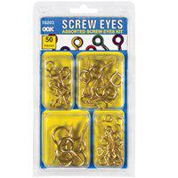 Hillman Group 968255 Ook Assorted Screw Eye Kit - 50 Piece