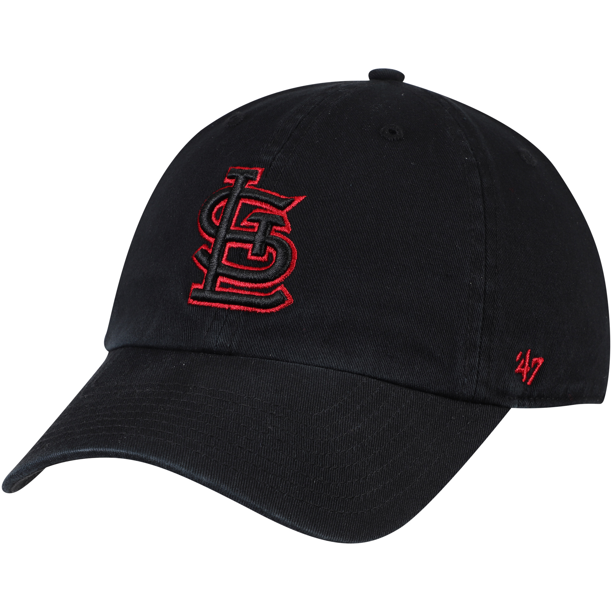 St. Louis Cardinals '47 Team Color Clean Up Adjustable Hat - Black - OSFA