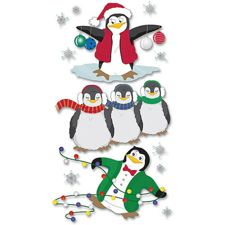 Jolees Christmas Stickers  Penguins