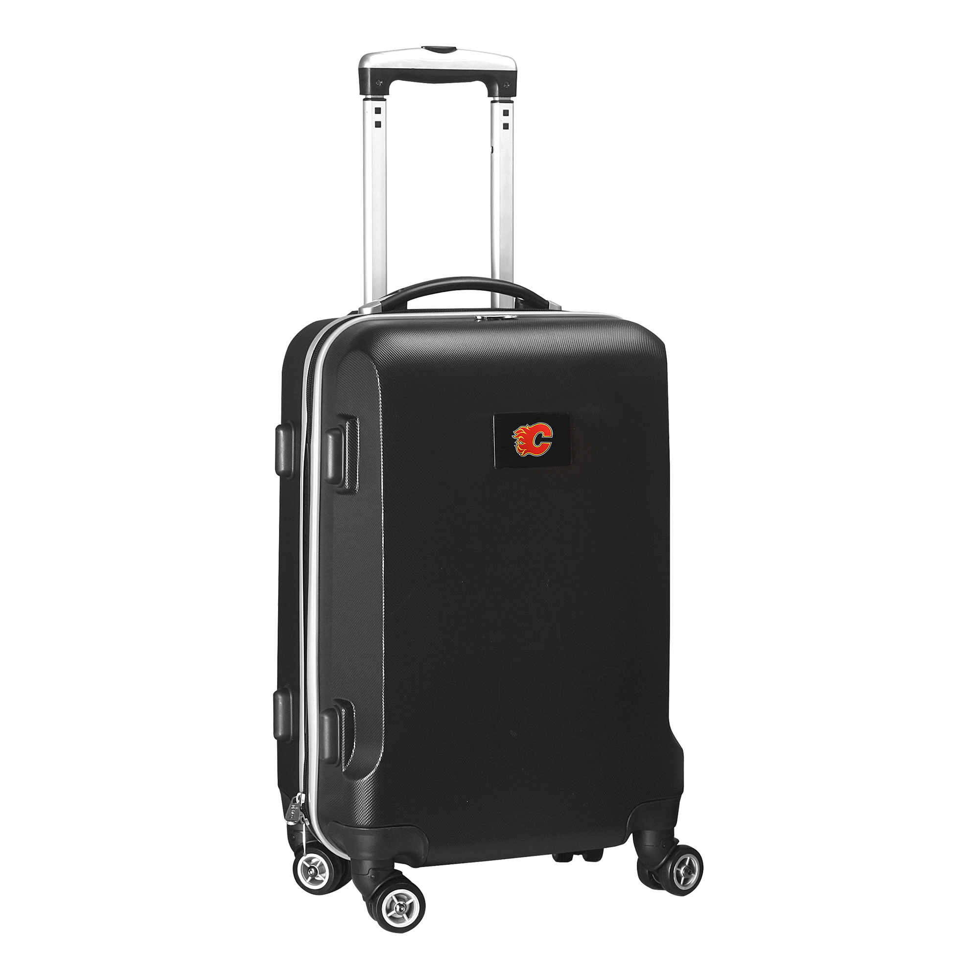 """Calgary Flames 20"""" 8-Wheel Hardcase Spinner Carry-On - Black - No Size"""