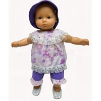 Doll Clothes Superstore 3 Piece Doll Clothes Lavender And Purple Print Fits Baby Dolls