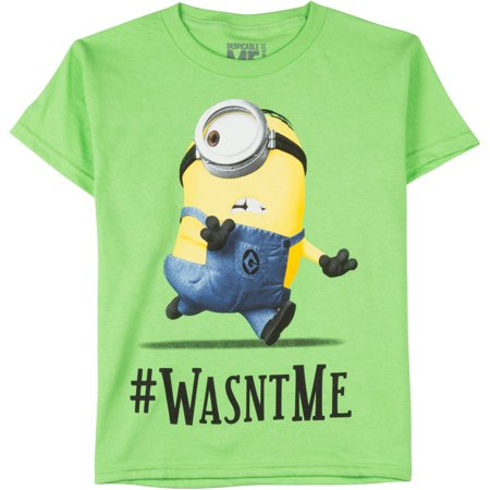 despicable me boys 39 minions wasn 39 t me graphic tee. Black Bedroom Furniture Sets. Home Design Ideas