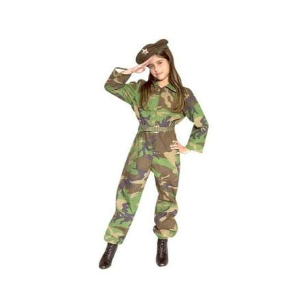 Child's GI Army Girl Costume