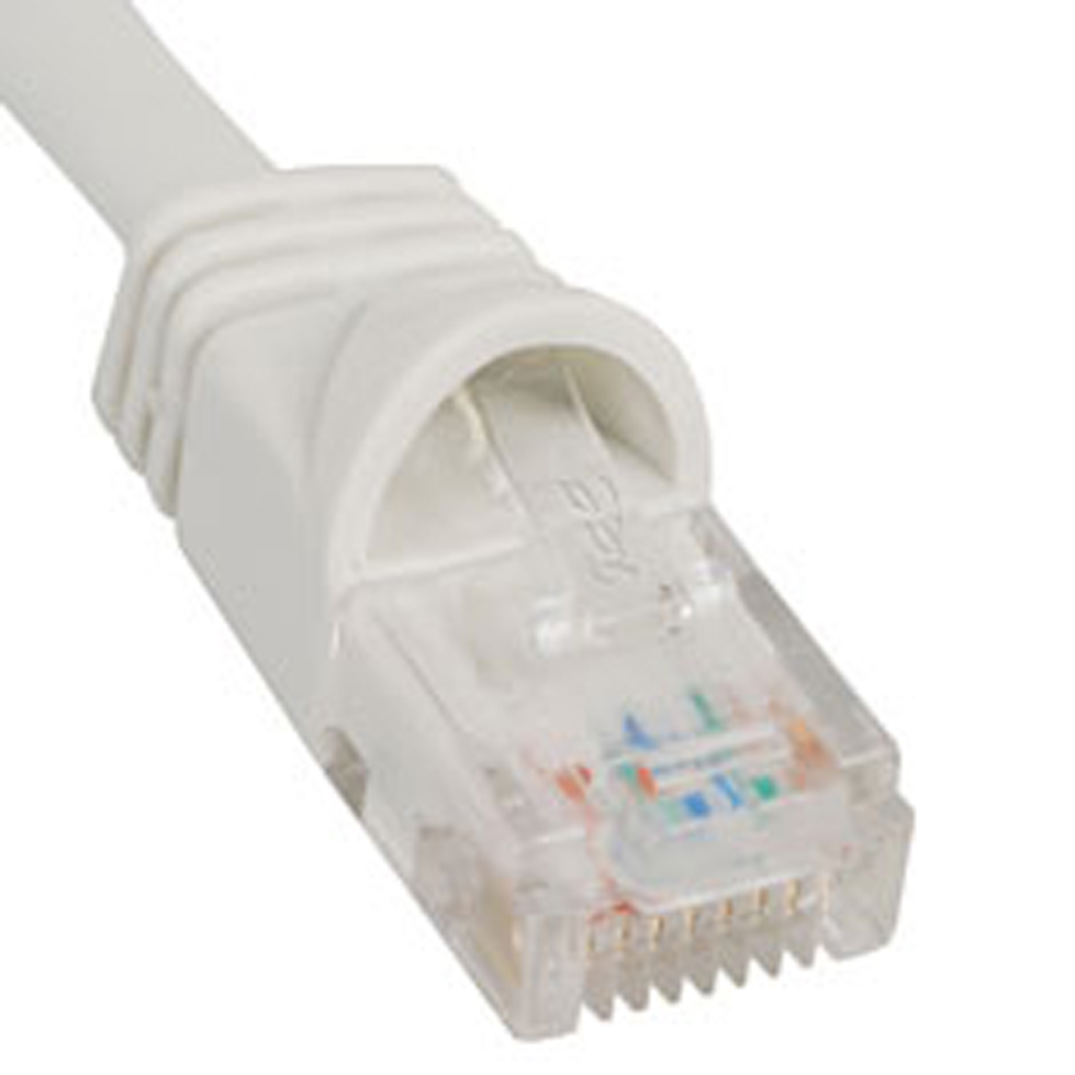 PATCH CORD- CAT 5e- MOLDED BOOT- 1' WH