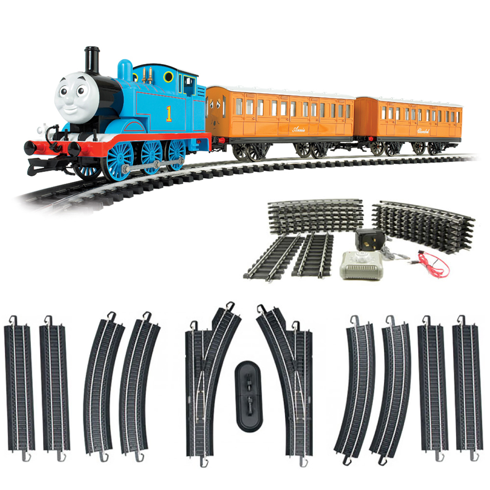 Bachmann Trains Thomas with Annie and Clarabel Train + Steel Alloy Track Set
