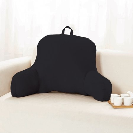Sweet Home Micro Plush Back Support W Arms Bed Rest Pillow Lounger Cushion