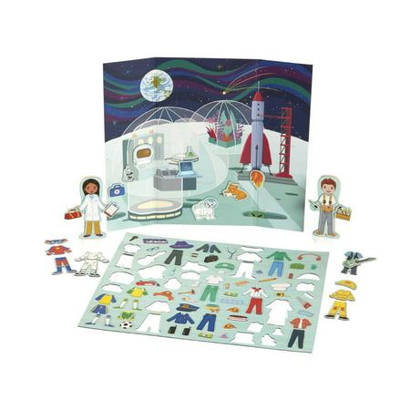 Melissa & Doug Magnetivity Magnetic Dress-Up Play Set – Dress & Play Careers (86 Pieces, 2 Play Figures)