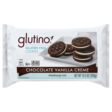 Glutino chocolate vanilla creme cookies, 10.6 oz (pack of 12)](Cookies And Cream Chocolate)