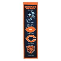 "Chicago Bears 8"" x 32"" Premium Heritage Banner - No Size"