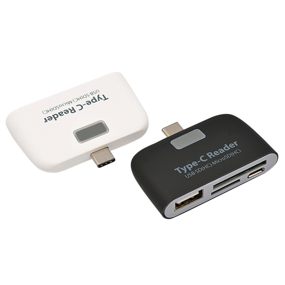 Universal Type C to USB 3.0 OTG Hub Adapter SD//TF Micro SD Memory Card Reader