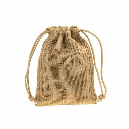 Burlap Favor Bags With Drawstrings 12