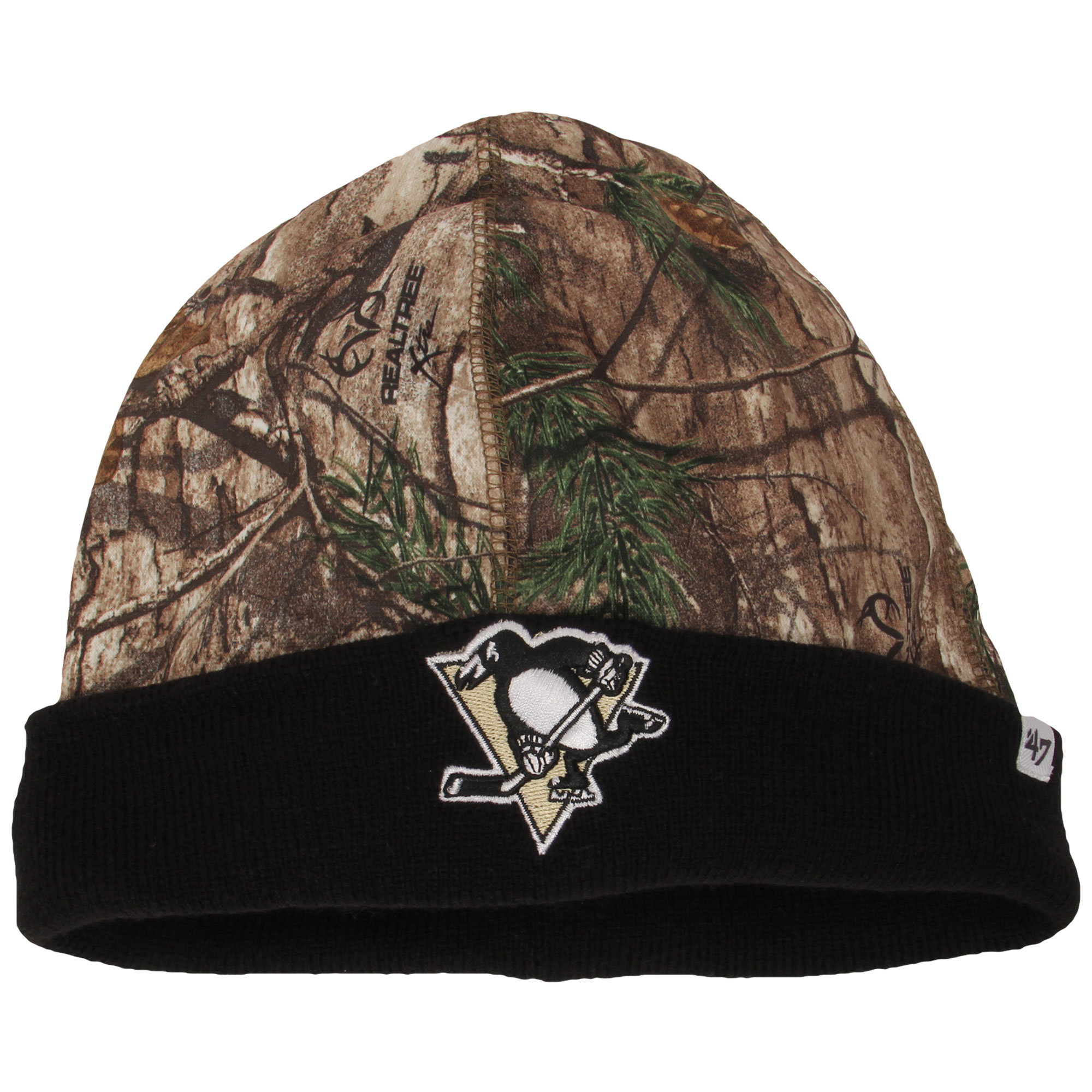 Pittsburgh Penguins '47 Real Tree Foxden Cuffed Knit Hat - Camo/Black - OSFA