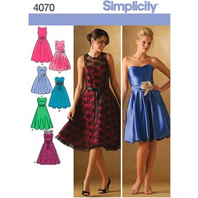 Simplicity Jessica McClintock Misses\' & Plus Size 8-16 Special Occasion  Dress Pattern, 1 Each