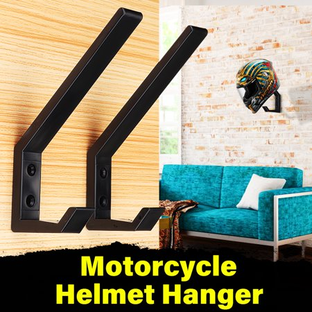 2/4Pcs Holder Door Hook Motorcycle Helmet Jacket Bags Organizer Wall Mount Display Rack Hanger for Home Clothes Towel Bag (Motorcycle Helmet And Jacket)